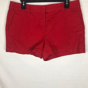 Ann Taylor LOFT Solid Red Shorts Size 8